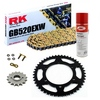 Sprockets & Chain Kit RK 520 EXW Gold GAS GAS EC 200 00-02