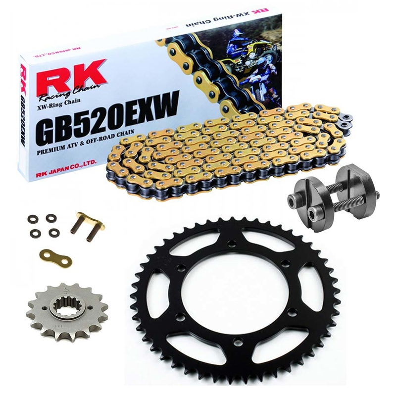 Sprockets & Chain Kit RK 520 EXW Gold GAS GAS FSE 400 SM 03-04