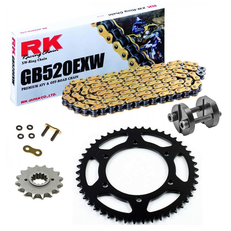 Sprockets & Chain Kit RK 520 EXW Gold GAS GAS FSE 400 SM 03-04