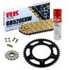 Sprockets & Chain Kit RK 520 EXW Gold GAS GAS FSE 450 SM 03-04