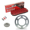 Sprockets & Chain Kit RK 428SB Red HYOSUNG GT 125 Naked 03-15