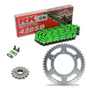 Sprockets & Chain Kit RK 428SB Green HYOSUNG GT 125 Naked 03-15