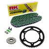 Sprockets & Chain Kit RK 428SB Green HYOSUNG RT 125 Karion D Citytrail 08-15
