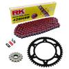 Sprockets & Chain Kit RK 428SB Red HYOSUNG XRX 125 Funduro 07-08