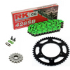 Sprockets & Chain Kit RK 428SB Green HYOSUNG XRX 125 Funduro 07-08