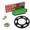 Sprockets & Chain Kit RK 428SB Green KAWASAKI KDX 150 14-15
