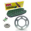 Sprockets & Chain Kit RK 428SB Green KAWASAKI KE 100 B 82-01