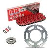Sprockets & Chain Kit RK 420SB Red KAWASAKI KX 80 Y1-Y2-Y3 98-00
