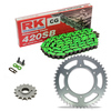 Sprockets & Chain Kit RK 420SB Green KAWASAKI KX 80 Y1-Y2-Y3 98-00