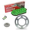 Sprockets & Chain Kit RK 420SB Green KAWASAKI KX 85 Rueda Grande 01-18