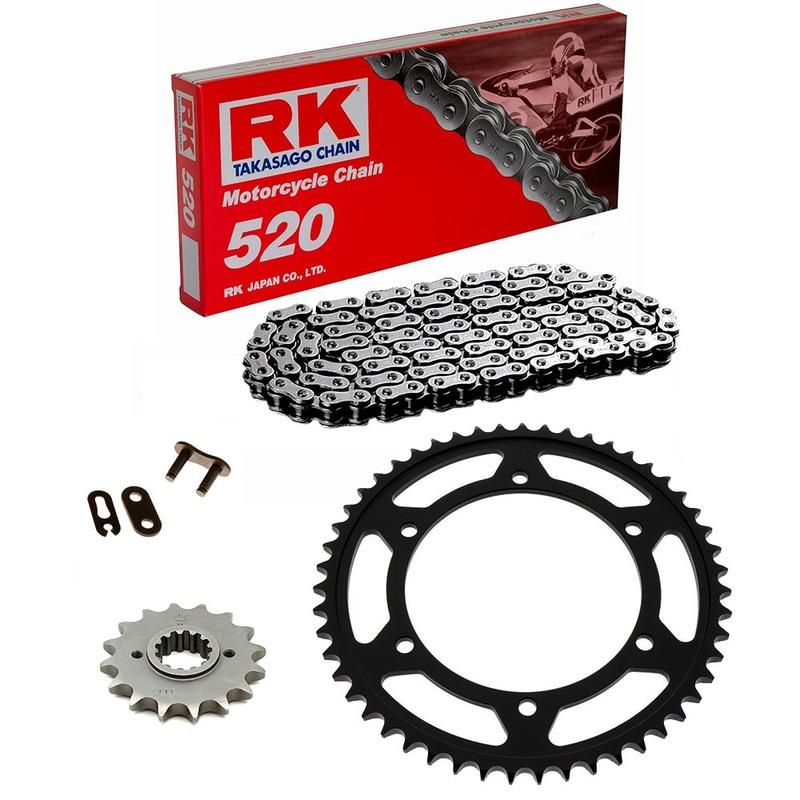 Sprockets & Chain Kit RK 520 KAWASAKI KX 125 04-08 Standard