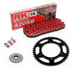 Sprockets & Chain Kit  RK 420SB Red RIEJU Spike 50 03-05