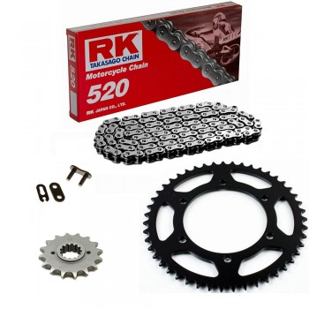 Sprockets & Chain Kit RK 520 POLARIS Scrambler 400 4x4 MidAxle 96-99 Standard