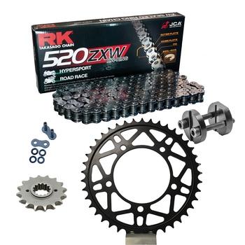 Sprockets & Chain Kit RK 520 ZXW Grey Steel APRILIA RSV 1000 R Conversion 520 Ultralight 04-09 Free Riveter