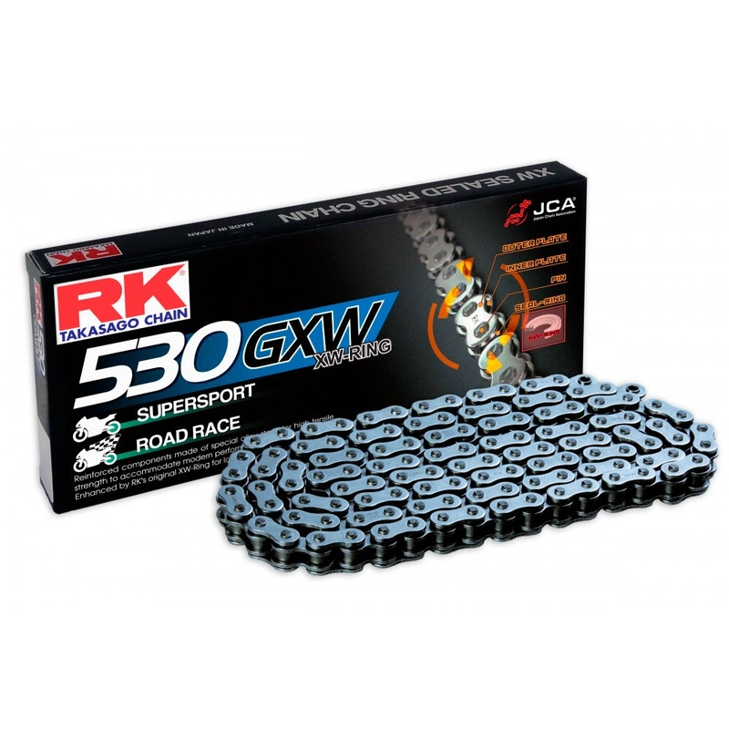 CADENA RK 530 GXW GRIS ACERO CON XW RING SUPERSPORT