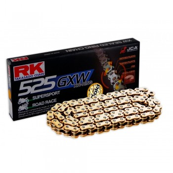CADENA RK 525 GXW ORO X-RING SUPERSPORT