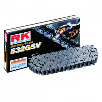 RK CHAIN 532 GSV STEEL GREY WITH XW RING