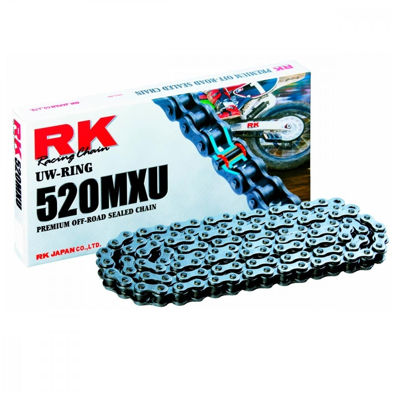 CADENA RK 520 MXU GRIS ACERO X-RING OFF ROAD