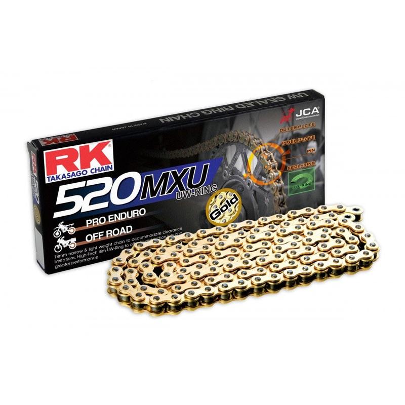 CADENA RK 520 MXU ORO UW-RING OFF ROAD