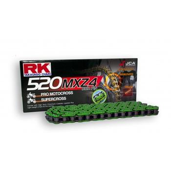 CADENA RK 520 MXZ4 VERDE ENGANCHE CLIP