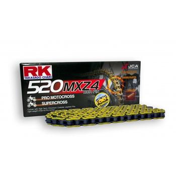 CADENA RK 520 MXZ4 AMARILLO ENGANCHE CLIP