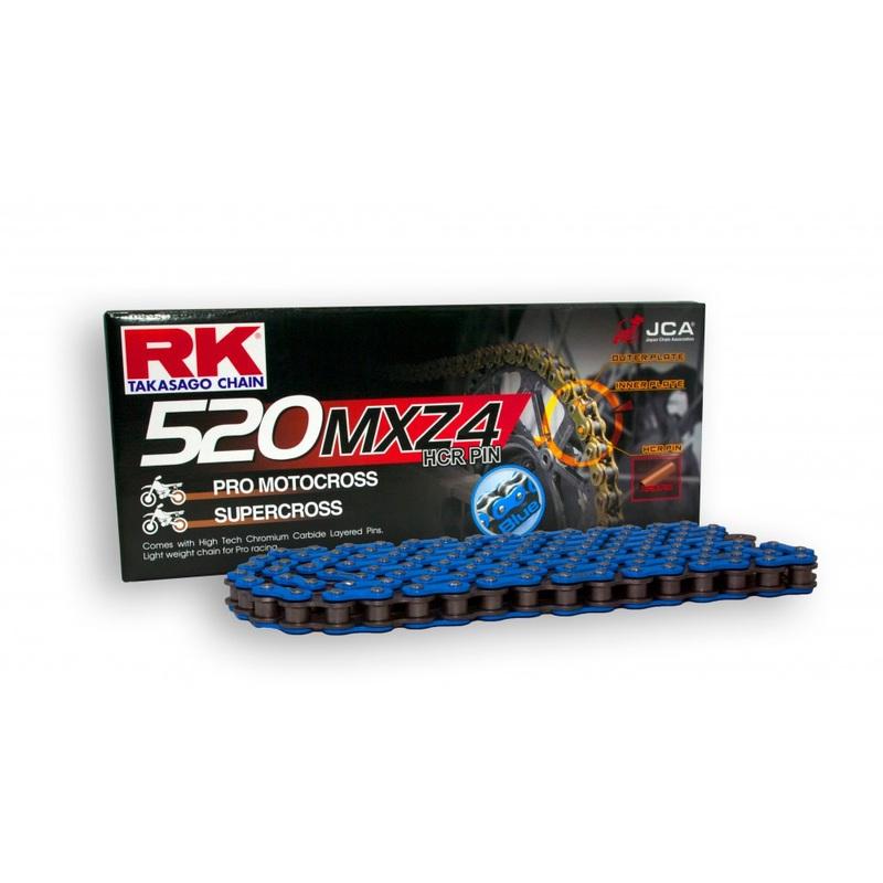 CADENA RK 520 MXZ4 AZUL ENGANCHE CLIP