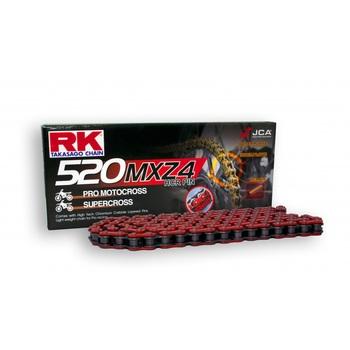 CADENA RK 520 MXZ4 ROJA ENGANCHE CLIP