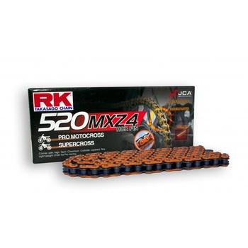 CADENA RK 520 MXZ4 NARANJA ENGANCHE CLIP