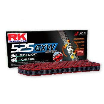CADENA RK 525 GXW ROJA X-RING