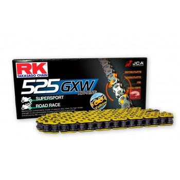 CADENA RK 525 GXW AMARILLA X-RING