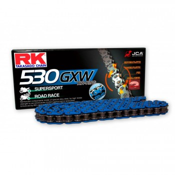 RK CHAIN 530 GXW BLUE WITH XW RING
