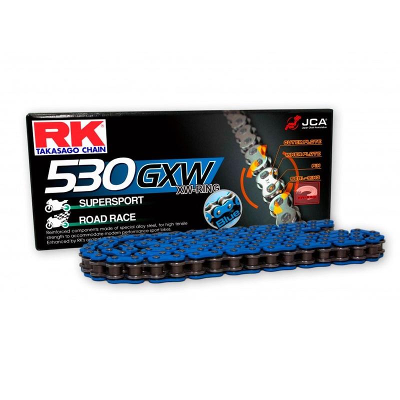 CADENA RK 530 GXW AZUL CON XW RING