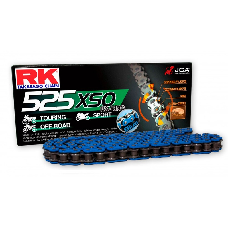 CADENA RK 525 XSO AZUL X-RING