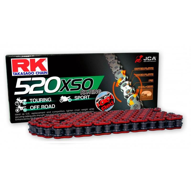 CADENA RK 520 XSO ROJO X-RING