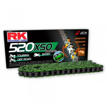 CADENA RK 520 XSO VERDE X-RING