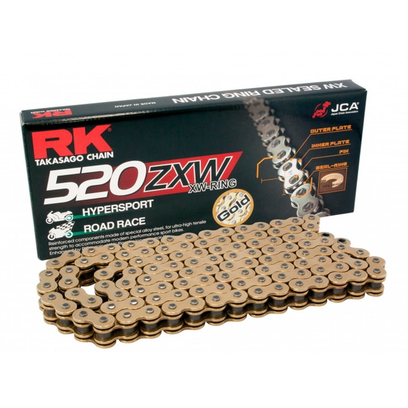 CADENA RK 520 ZXW ORO X-RING HYPERSPORT