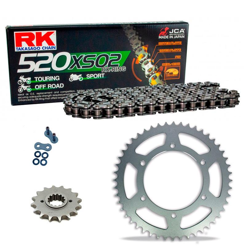 KIT DE ARRASTRE RK 520 XSO NEGRO ACERO APRILIA AF1 125 Sport Pro 92-93