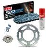KIT DE ARRASTRE RK 520 GXW Reforzado GRIS ACERO APRILIA RSV 1000 R Conversion 520 04-09
