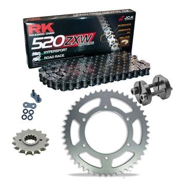 Sprockets & Chain Kit RK 520 GXW  Grey Steel APRILIA AF1 125 Europa 90-93 Free Riveter!