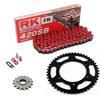 Sprockets & Chain Kit  RK 420SB Red DERBI Senda 50 R X-Race 06-10