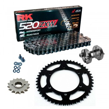Sprockets & Chain Kit RK 520 ZXW Grey Steel DUCATI 851 SP 88-89 Free Riveter