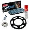 Sprockets & Chain Kit RK 520 GXW Grey Steel DUCATI Monster 620 Dark MD 04