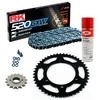 Sprockets & Chain Kit RK 520 GXW Grey Steel DUCATI Monster 695 07-08
