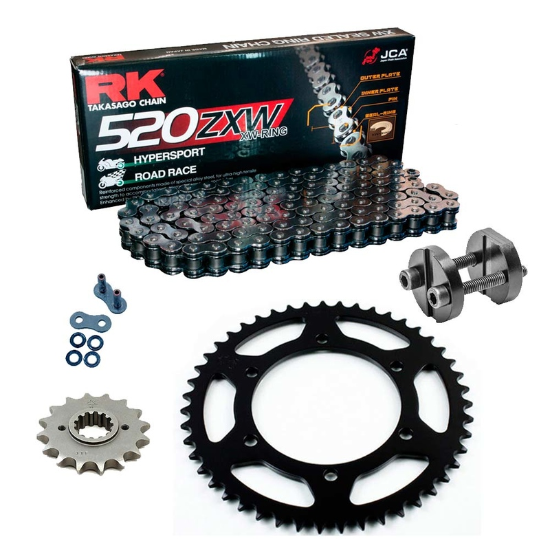 Sprockets & Chain Kit RK 520 ZXW Grey Steel DUCATI Super Light 900 92-98 Free Riveter