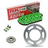 Sprockets & Chain Kit RK 420SB Green HONDA ST 50 78