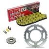 Sprockest & Chain Kit RK 420SB Yellow HONDA XR 80 79-84