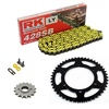 Sprockets & Chain Kit RK 428SB Yellow HONDA CBS 125 75-79