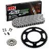 Sprockets & Chain Kit RK 428 XSO Reinforced Black Steel HONDA CD 200 80-85