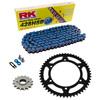 Sprockets & Chain Kit RK 428SB Blue HONDA CG 125 02-05