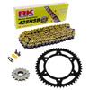 Sprockets & Chain Kit RK 428SB Yellow HONDA CM 125 Custom 82-97